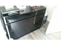 hygena black high gloss sideboard