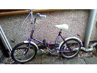 Ladies Vintage Purple Bicycle for Sale