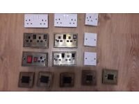Various electrical fittings. Sockets, Light Switches, Fused etc. Job lot