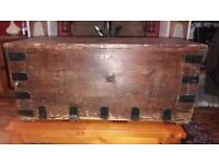 Large chest, old, solid wood.