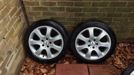 "4 No Original Mercedes 17"" Cygnus Alloy Wheels - from a CLK320 (W209)"