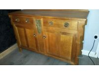 Vintage oak french effect sideboard