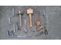Assortment of old hand tools