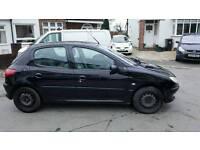 Peugeot 206 glx in black MOT sept