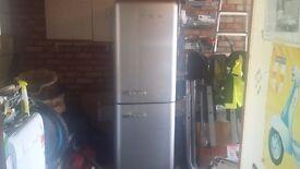 SMEV fridge freezer metallic siver