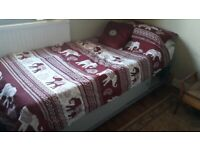 Single bed and Mattress with under storage