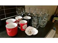 Free glasses and mugs