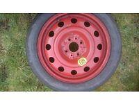 Fiat 4 stud Space Saver Wheel 125 70 R15 MICHELIN