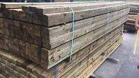"""🍃 NEW WOODEN TANALISED 4""""x 2""""x 3.6M LENGTHS"""