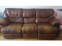 chair n 3 seater eletric recliner FREE
