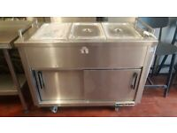 1.5m hot cupboard with dry bain marie
