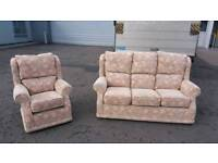 Creations 3+1 floral sofa