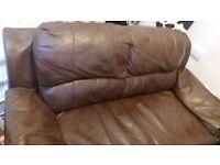 Free dark brown faux leather sofa