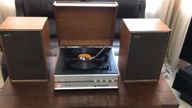 Vintage retro 60s 70s Record player stereo Radio Hacker Centurion Antique
