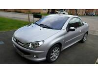 Peugeot 206 CC Silver 1.6 ONLY 65000miles