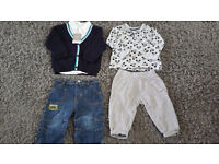 5 Baby Boy outfits Age 6-9 Months.