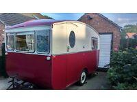 Classic –Vintage- Glamping 1958 Eccles Bounty Caravan