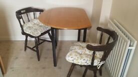 Fold out table and 2 chairs