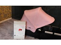 BOXED BUGABOO DONKEY SOFT PINK EXTENDABLE HOOD CANOPY / HOOD ONLY