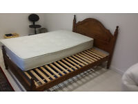 Excellent Pine Bed Frame Excellent Condition Very Sturdy Double Size free Mattress