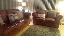 Buffalo leather sofas REDUCED
