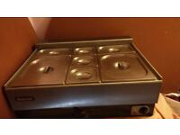 7 Pan Catering Buffet Electric WET Bain Marie (76cm x 61cm x 27cm)