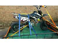 Lucky mx 150 cc supermoto pit bike ready to race in bmb with trailer
