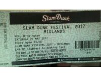1x Slam Dunk Festival Ticket - NEC BIRMINGHAM SAT 27TH MAY + After Party