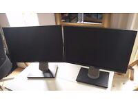 Two Dell Widescreen monitors