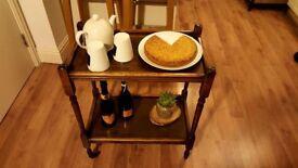 Vintage Wooden Tea Trolley - Very good condition - £30