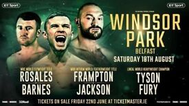 Frampton vs Jackson tickets x2