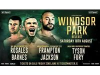 Frampton vs Jackson tickets x2
