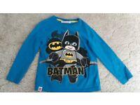 Batman lego long sleeved top size 4-5 years