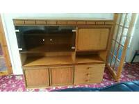 Wooden cabinet Inc drinks cabinet