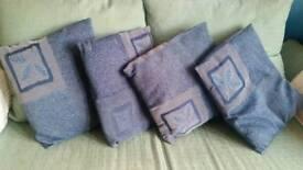 Blue cushions