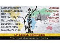 Immigration Lawyer. Visa service - Tier 2, Tier 1, ILR, EEA, FLR(O), Appeal, Bail, EEA PR