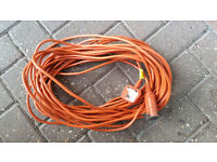 Genuine Flymo Lawnmower 20 meter power lead cable plug extension for lawn mower can post and deliver