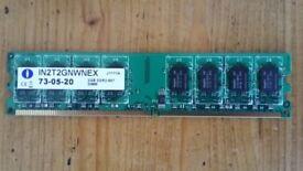 Integral 2GB DDR2 ram 5300U 667MHz - tested, works perfectly
