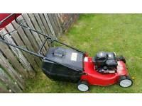 "Champion petrol push lawnmower 16""cut"
