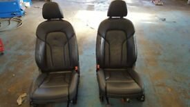 AUDI Q5 S LINE 2012 2013 2014 2015 2016 semi electronic LEATHER FRONT SEATS