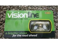 Ring Visionline Rectangular Driving Lamps With H3 55w Halogen Bulbs Set 2