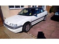 Much loved Rover Cabriolet with honda engine, 216. Unusual colour white with grey hood. Mot july.