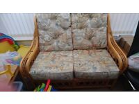 2 seater sofa,1 chair and table