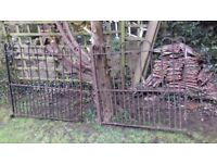 GATES - DOUBLE - HEAVY QUALITY WROUGHT IRON