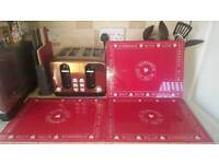 🌟3 NEXT Large Red Glass Chopping Boards🌟