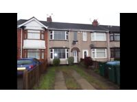 3 Bedroom Terraced House to rent Willenhall Lane-NO FEES