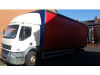 Delivery service 18 ton curtain side truck