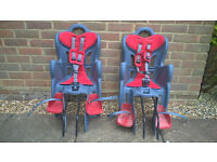 Rear child bike seats - NEARLY NEW -