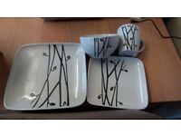 brand new 8 large plates/8 smaller plates/8 dishes/8 mugs
