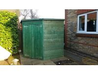 Corner shed for sale - nearly new!